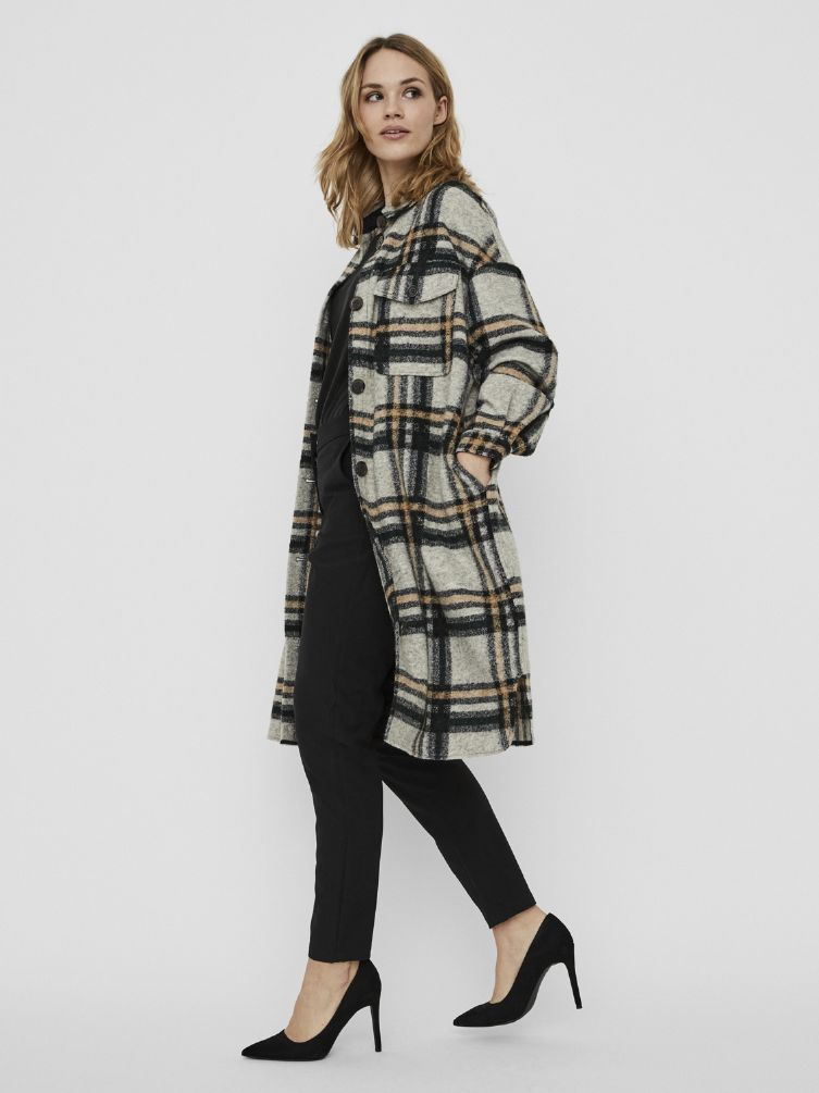 chrissie long check shirt