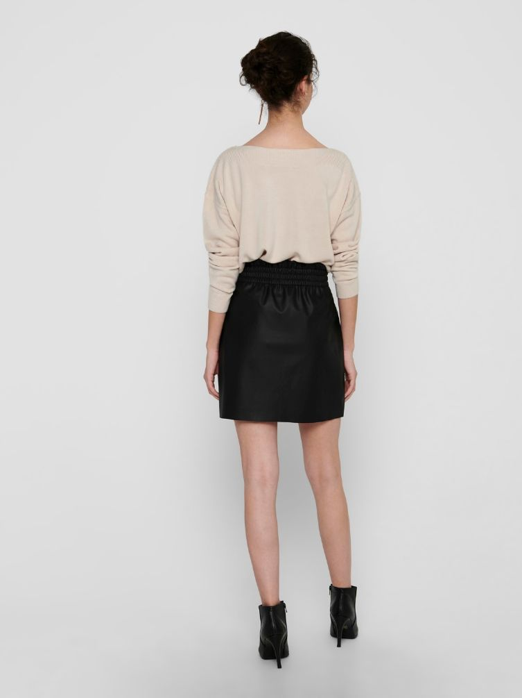 Pinzone faux leather skirt