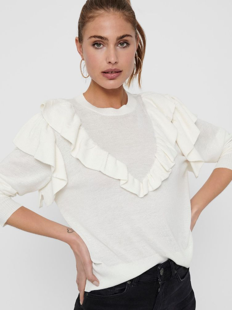 Anry frill pullover knit